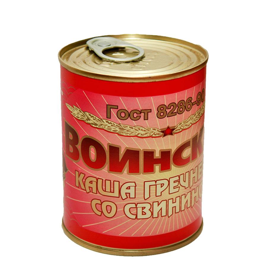 Каша гречневая со свининой ГОСТ Воинская